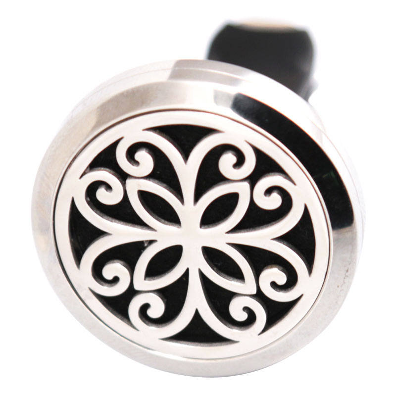 10pcs Flower 30mm Diffuser 316 Stainless Steel Car Aroma Locket Essential Oil Car Diffuser Locket Free Felt 50Pcs Pads