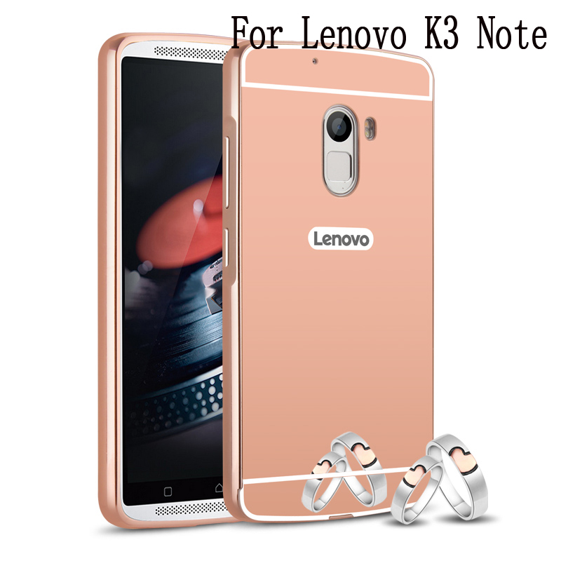 For Lenovo K3 K3 Note K4 Note Mirror Aluminum Metal Frame Back Cover Ultra Thin Mobile Phone A6000 A7000 A7010 Hard Case